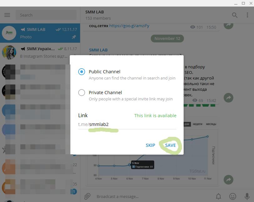 Виды каналов в Telegram