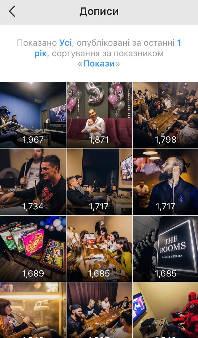 Просування ігрового бару в Instagram