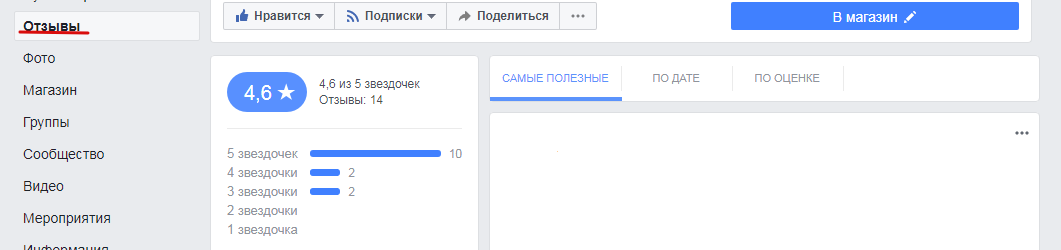 Как работать с отзывами на страницах в Фейсбук