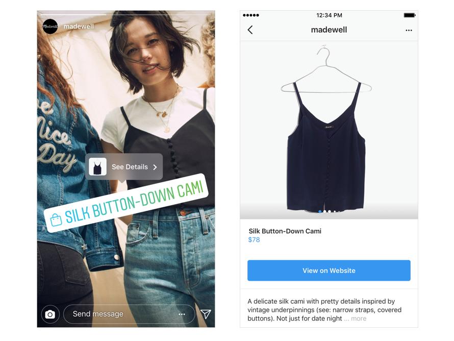 Новые способы покупки на Instagram
